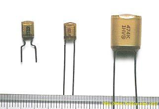 قيمة السعة: 0.0047 µF (مطبوعة 472K) قيمة السعة: 0.0068 µF (مطبوعة 682K) قيمة السعة:0.47 µF (مطبوعة 474K)