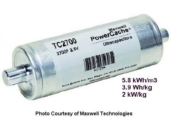 مكثف شركة Maxwell Techoloiges بسعة 2700 فاراد